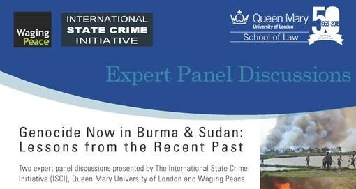 Genocide Now in Burma & Sudan: Lessons from the Recent Past