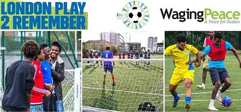 Waging Peace: Survivors Football Tournament London April 2018
