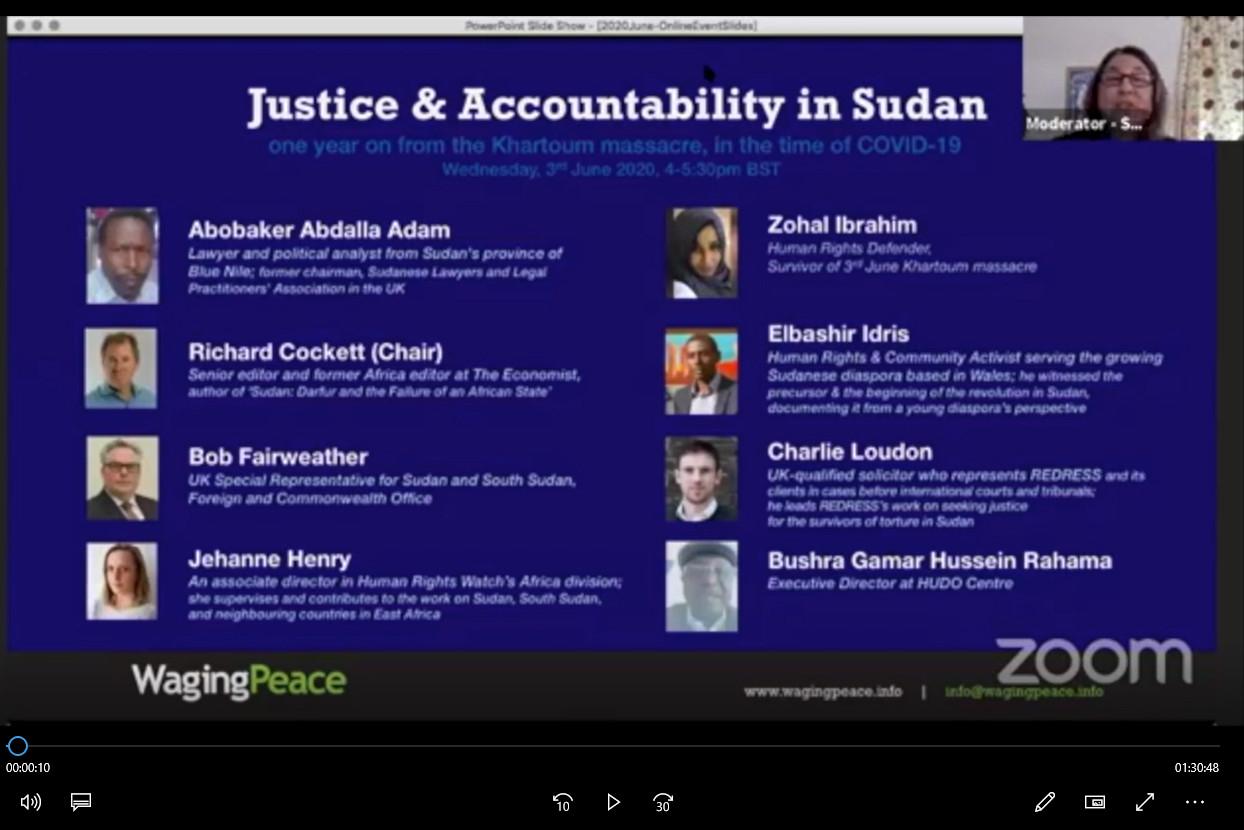 Justice and accountability in Sudan Webinar (June 2020)